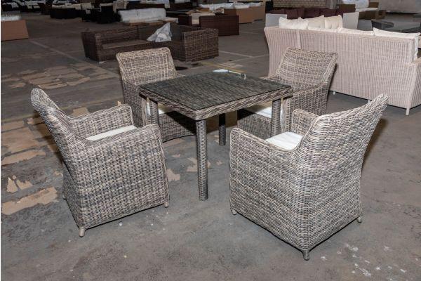 #HBM 2080: 4er Set Stuhl Sandnes mit Tisch San Juan 5mm