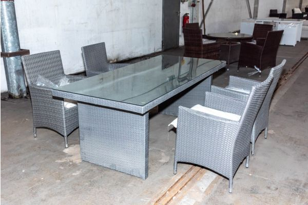#HBM 2108: 4er Sitzgruppe Avignon mit Tisch 200