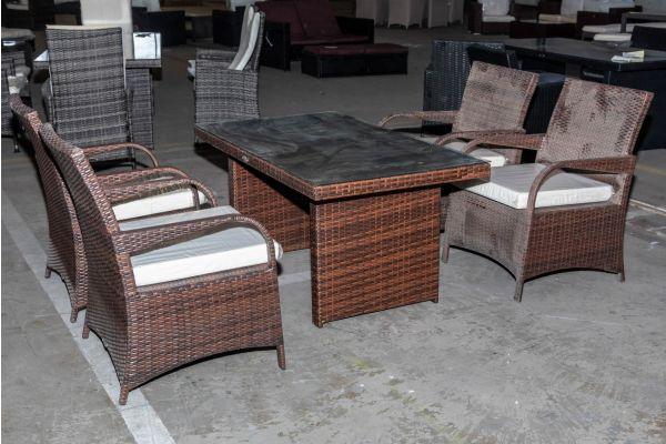 #HBM 2066: Sitzgruppe bestehend aus 4er Set Stuhl Pizzo mit Tisch Fisolo