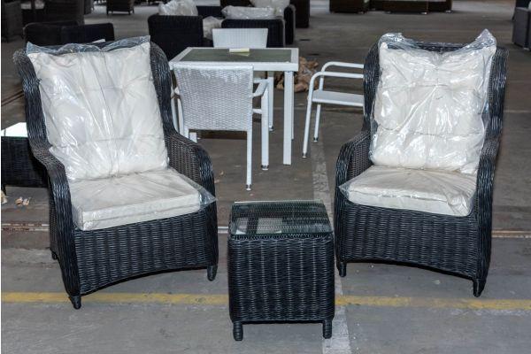 #HBM 2073: 2er Set Sessel Treviso mit Beistelltisch Vilato 5mm