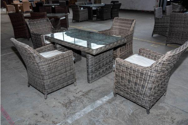 #HBM 2027: 4er Set Sessel Sandnes mit Tisch Fisolo 5mm