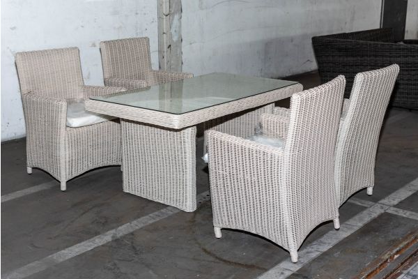 #HBM 2047: 4er Set Stuhl Fontana mit Tisch Fisolo 5mm