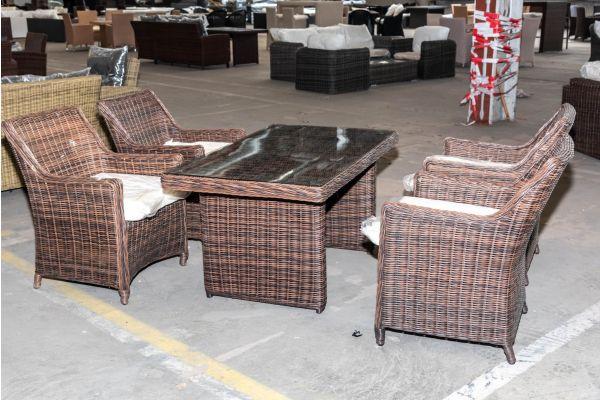 #HBM 2049: 4er Set Sessel Sandnes mit Tisch Fisolo 5mm