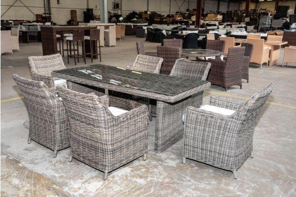 #HBM 2024: 6er Set Sessel Sandnes mit Tisch Fontana 200 5mm