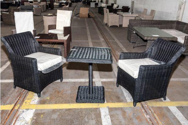#HBM 2019: 2er Set Stuhl Sandnes mit Tisch Palermo 5mm