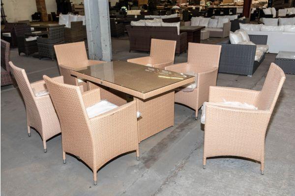 #HBM 2007: 6er Set Stuhl Avignon mit Tisch Fisolo-sand