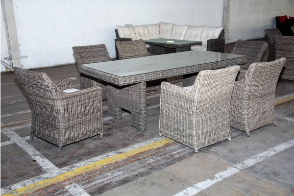 #HBM 2229: Sitzgruppe Sandnes 5mm graumeliert