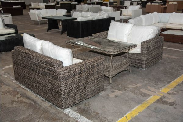 #HBM 2250: 2er Set 2er Sofa Madeira mit Tisch Pandora 130 5mm