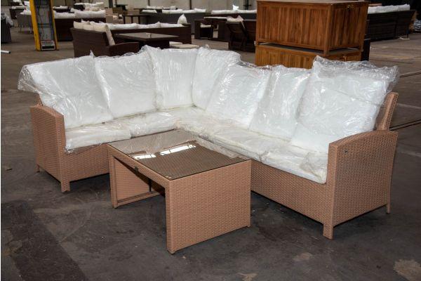 #HBM 2277: Eckgarnitur Bermeo mit Tisch Casablanca