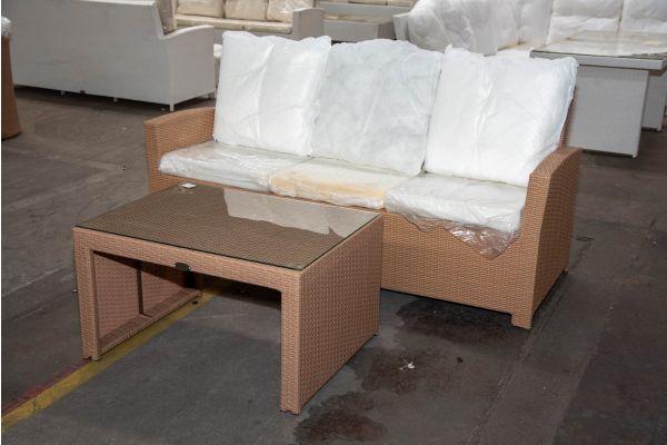 #HBM 2276: 3er Sofa Fisolo mit Tisch Casablanca-sand