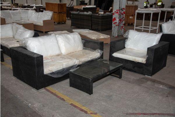#HBM 2281: 2er Sofa bestehend aus 2 Eckelementen mit Sessel Barcelona und Tisch Casablanca