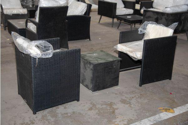 #HBM 2294: 2er Set Stuhl Maui mit Beistelltisch Barcelona
