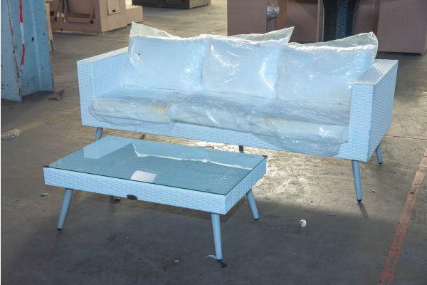#HBM 2465: 3er Sofa Molde mit Tisch