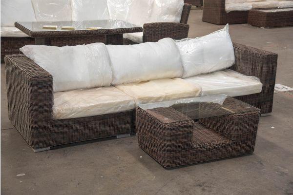 #HBM 2342: 3er Sofa bestehend aus 2 Eck- und 1 Mittelelement Ariano mit Tisch Moss 5mm