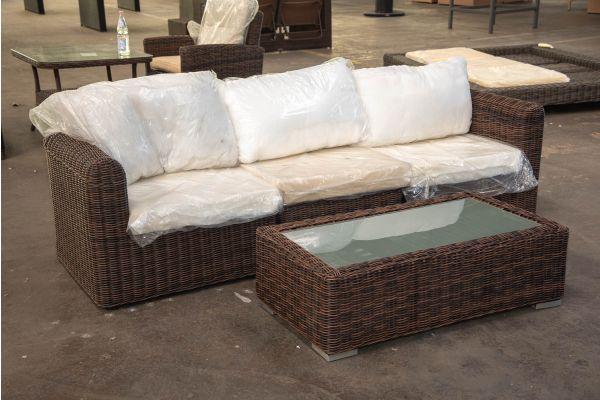 #HBM 2339: 3er Sofa bestehend aus 2 Eck- und 1 Mittelelement Marbella mit Tisch Madeira 5mm