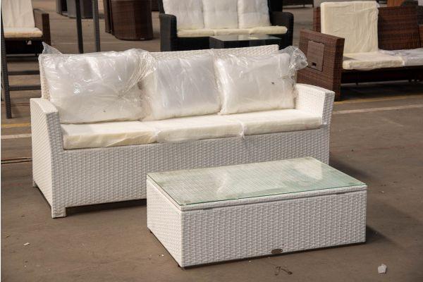 #HBM 2423: 3er Sofa Fisolo mit Tisch Tibera