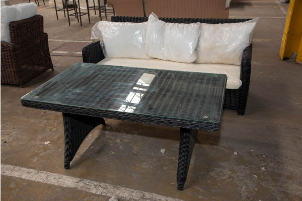 #HBM 2443: 3er Sofa San Fernando mit Tisch Sierra 5mm