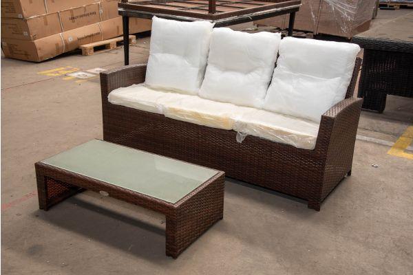 #HBM 2433: 3er Sofa Fisolo mit Tisch Casablanca