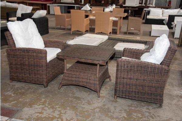 #HBM 2333: 2er Set Sessel Fisolo mit Tisch Pandora 80x80 5mm