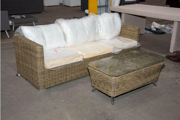 #HBM 2500: 3er Sofa Sorano mit Tisch Vivari 5mm