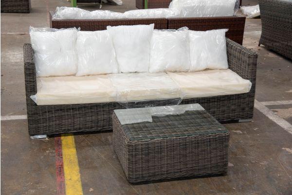 #HBM 2511: 3er Sofa Sorano mit Tisch Marbella 5mm