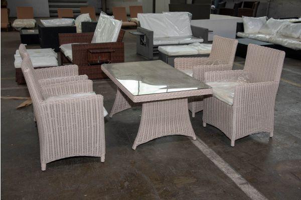 #HBM 2584: 4er Set Stuhl Fontana mit Tisch Sorano 5mm