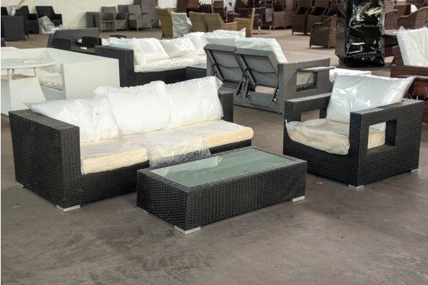#HBM 2540: 3er Sofa mit Tisch Provence und Sessel Honolulu