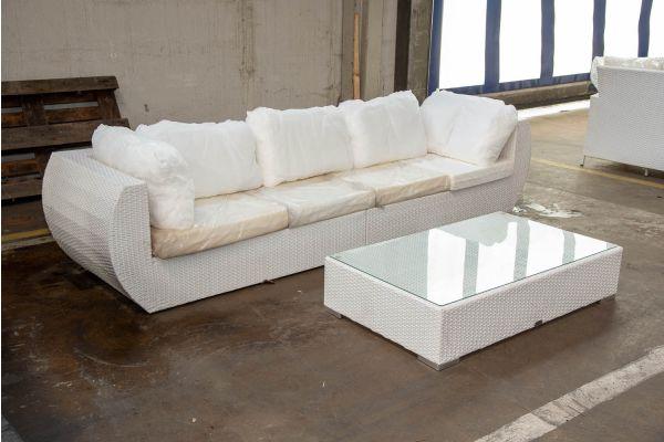 #HBM 2545: Sofa bestehend aus 2 Seitenelementen Gibraltar mit Tisch Barcelona