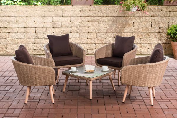 Lounge-Set Ameland Sitzhöhe 40 cm