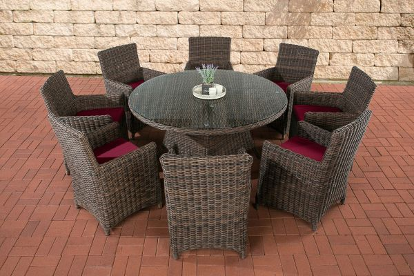 Rattan Garten Sitzgruppe Larino XL