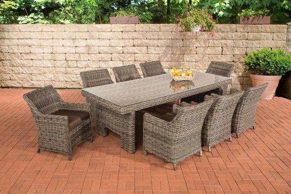 Sandnes XL Sitzgruppe Terrabraun 5mm grau-meliert