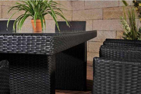 Sitzgruppe Avignon BIG Cremeweiß schwarz