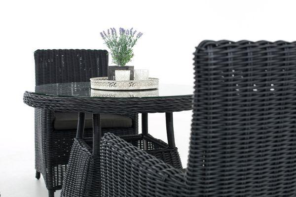 Sitzgruppe Casoli Anthrazit schwarz