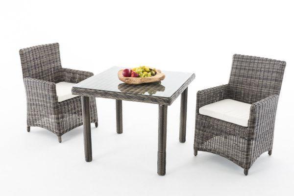 Sitzgruppe Dorado K100 Cremeweiß grau-meliert