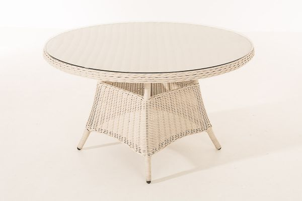 Stavanger Polyrattan Tisch 5mm perlweiß
