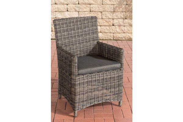 Stuhl Fontana / Sankt Marlo Anthrazit 5mm grau-meliert