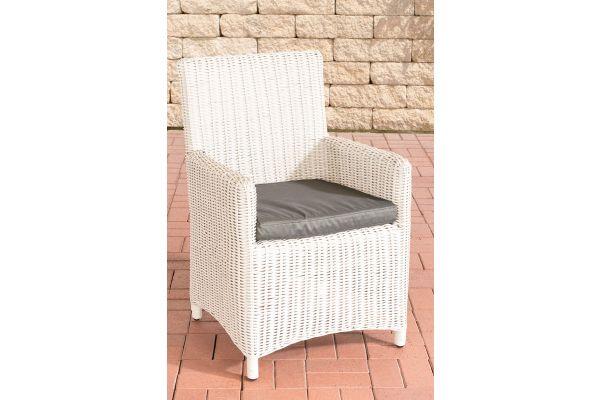 Stuhl Fontana / Sankt Marlo Anthrazit 5mm perlweiß
