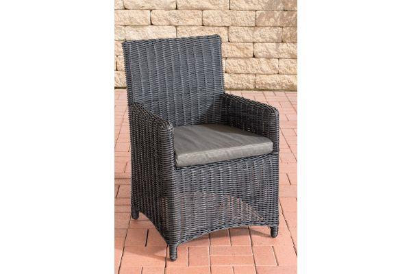 Stuhl Fontana / Sankt Marlo Anthrazit 5mm schwarz