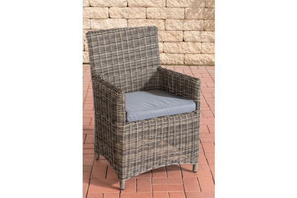 Stuhl Fontana / Sankt Marlo Eisengrau 5mm grau-meliert