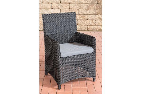 Stuhl Fontana / Sankt Marlo Eisengrau 5mm schwarz