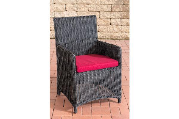 Stuhl Fontana / Sankt Marlo Rubinrot 5mm schwarz