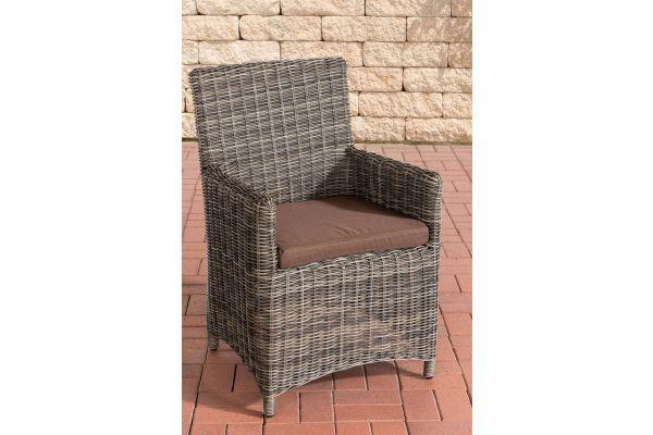 Stuhl Fontana / Sankt Marlo Terrabraun 5mm grau-meliert