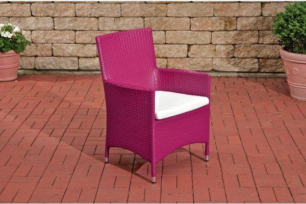 Stuhl Julia/Avignon/Tropea/Florenz Cremeweiß pink