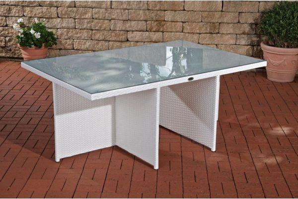 Tisch Maui 184x121x74,5 cm weiß