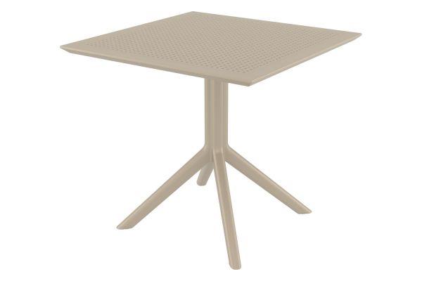 Tisch Sky 80 cm taupe