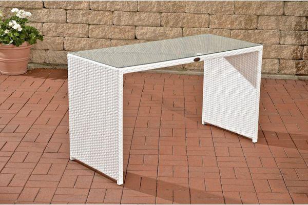 Tisch Tahiti 128x56x74,5 cm weiß