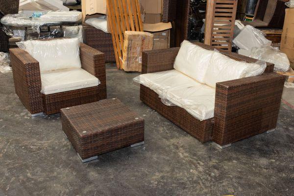 #HBM 411: 2er Sofa und Sessel Provence mit Tisch