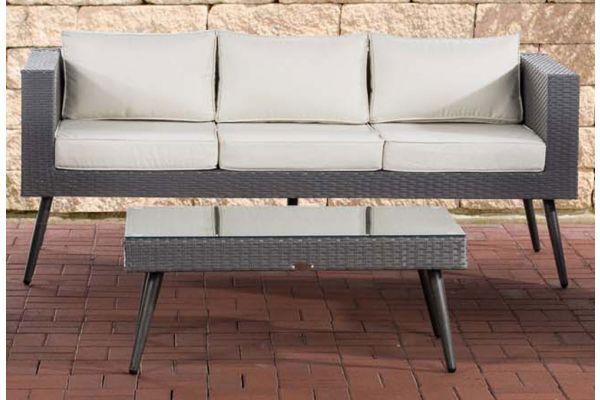 M# 3er Sofa Molde mit Tisch-grau