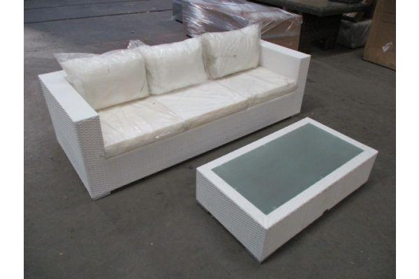 #HBM 1732: 3er Sofa Casablanca + Tisch Provence