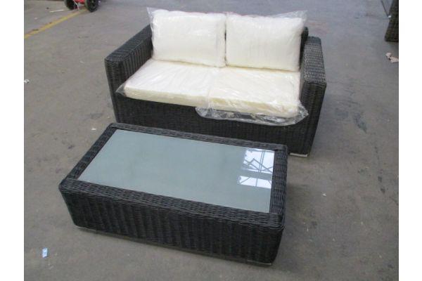 #HBM 1744: 2er Sofa mit Tisch Madeira 5mm